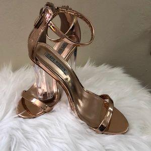 Rose Gold Metallic heels